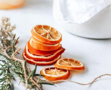festive cirtus slices