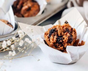 vegan mulberry muffin