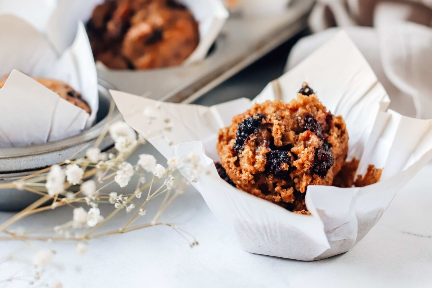 vegan mulberry muffin